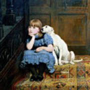Sympathy Poster by Briton Riviere