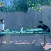 Table Tennis Poster by Andrew Macara