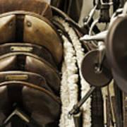Tac Room Saddles Poster by John Greim