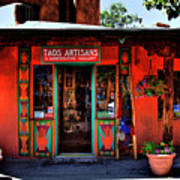 Taos Artisans Gallery Poster by David Patterson