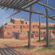 Taos Pueblo Poster by Jerry McElroy