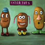 Tater Tots Poster by Leah Saulnier The Painting Maniac