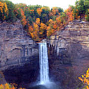 Taughannock Waterfalls In Autumn Poster by Paul Ge