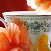 Tea In The Garden Poster by Angela Davies