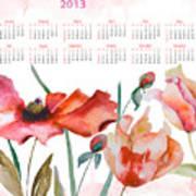 Template For Calendar 2013 Poster by Regina Jershova