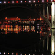 Tennessee River In Lights Poster by Douglas Stucky