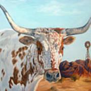 Texas Longhorn Poster by Jana Goode