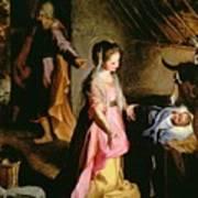 The Adoration Of The Child Poster by Federico Fiori Barocci or Baroccio