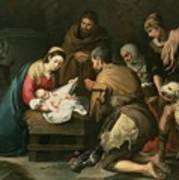 The Adoration Of The Shepherds Poster by Bartolome Esteban Murillo