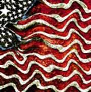 The American Flag Poster by Mimo Krouzian