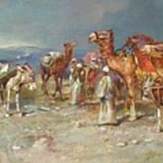 The Arab Caravan   Poster by Italian School