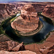 The Arizona Horsehoe Bend Of Colorado River Poster by Ryan Kelly