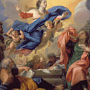 The Assumption Of The Virgin Poster by Guillaume Courtois