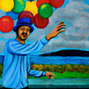 The Balloon Vendor Poster by Cyril Maza