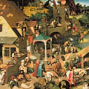 The Blue Cloak Poster by Pieter the Elder Bruegel