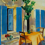 The Blue Shutters Poster by Elise Palmigiani