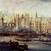 The Burning Of The Houses Of Parliament Poster by The Burning of the Houses of Parliament