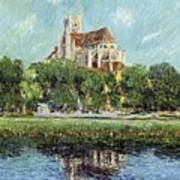 The Cathedral At Auxerre Poster by Gustave Loiseau