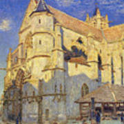 The Church At Moret Poster by Alfred Sisley