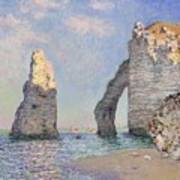 The Cliffs At Etretat Poster by Claude Monet