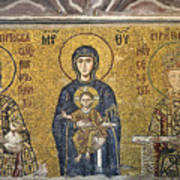 The Comnenus Mosaics In Hagia Sophia Poster by Ayhan Altun