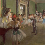 The Dancing Class Poster by Edgar Degas