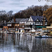 The Docks At Boathouse Row - Philadelphia Poster by Bill Cannon
