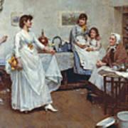 The Dress Rehearsal Poster by Albert Chevallier Tayler