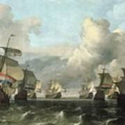 The Dutch Fleet Of The India Company Poster by Ludolf Backhuysen
