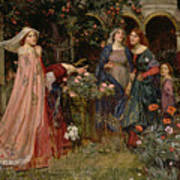The Enchanted Garden Poster by John William Waterhouse