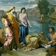 The Finding Of Moses Poster by Nicolas Poussin