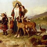 The Forester's Family Poster by Sir Edwin Landseer