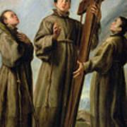 The Franciscan Martyrs In Japan Poster by Don Juan Carreno de Miranda