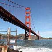 The Golden Gate Bridge At Fort Point - 5d21473 Poster by Wingsdomain Art and Photography