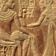 The Golden Shrine Of Tutankhamun Poster by Egyptian Dynasty
