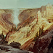The Grand Canyon Of The Yellowstone Poster by Thomas Moran