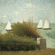 The Harbor At Grandcamp Poster by Georges Seurat
