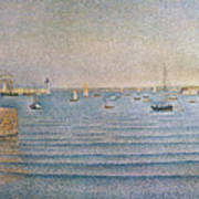 The Harbour At Portrieux Poster by Paul Signac