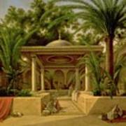 The Khabanija Fountain In Cairo Poster by Grigory Tchernezov