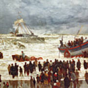 The Lifeboat Poster by William Lionel Wyllie