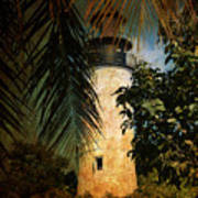 The Lighthouse In Key West Poster by Susanne Van Hulst