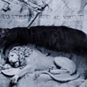 The Lion Of Lucerne Poster by Dan Sproul