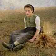 The Little Gleaner Poster by Hugo Salmon