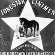 The Lonestar Liniment Poster by Bill Cannon