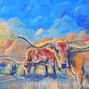 The Longhorns Poster by Jenn Cunningham