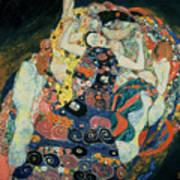 The Maiden Poster by Gustav Klimt