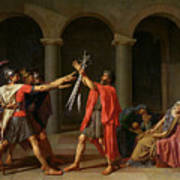 The Oath Of Horatii Poster by Jacques Louis David