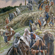 The People Beholding The Things That Were Done Smote Their Breasts Poster by Tissot