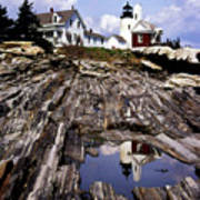 The Reflection At Pemaquid Poster by Skip Willits