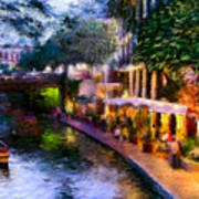 The River Walk Poster by Lisa  Spencer